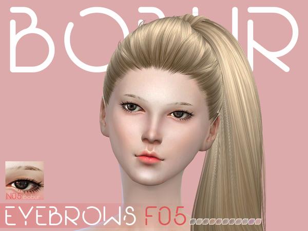 Bobur eyebrows F05 by Bobur3 at TSR image 2716 Sims 4 Updates
