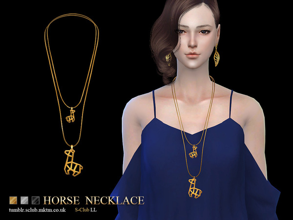 Sims 4 Necklace N11 by S Club LL at TSR
