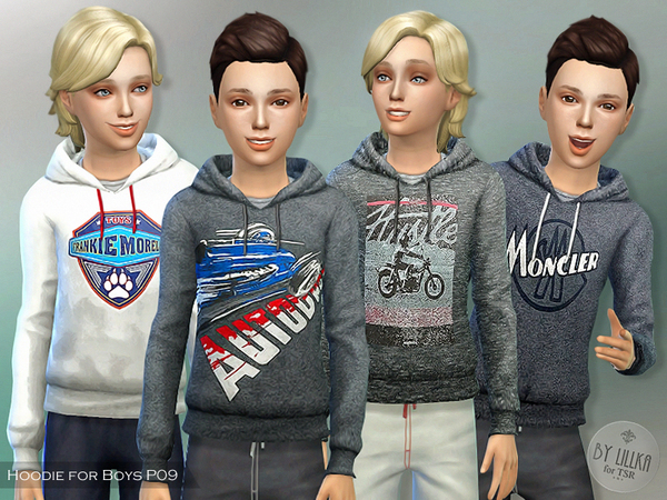 Sims 4 Hoodie for Boys P09 by lillka at TSR