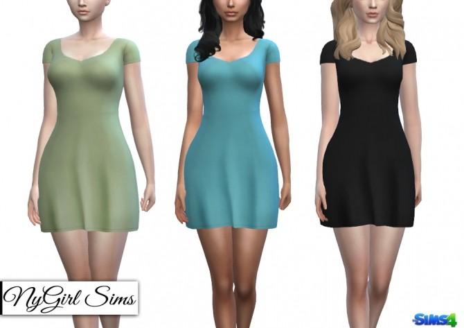 Basic T Shirt Sundress at NyGirl Sims image 2733 670x473 Sims 4 Updates