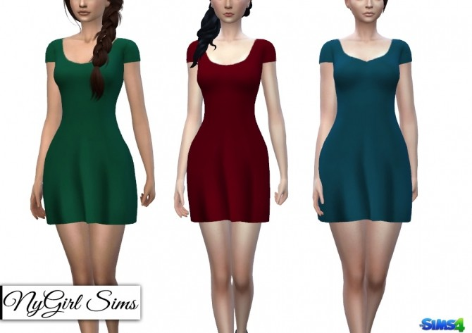 Basic T Shirt Sundress at NyGirl Sims image 2743 670x473 Sims 4 Updates