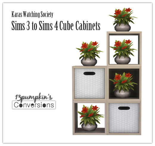 S3 to S4 Cube Cabinets at 13pumpkin31 image 2791 Sims 4 Updates
