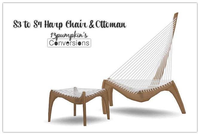 Sims 4 S3 to S4 Pocci Harp Chair & Ottoman at 13pumpkin31