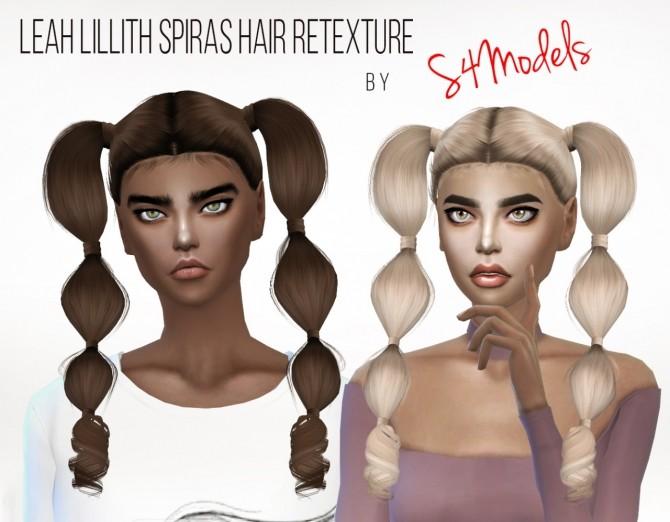 Sims 4 LeahLillith Spirals Hair Retexture at S4 Models