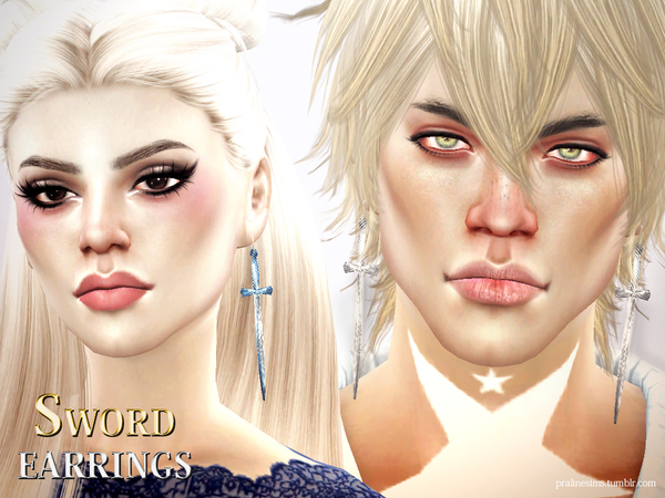Sword Earrings by Pralinesims at TSR image 2813 Sims 4 Updates