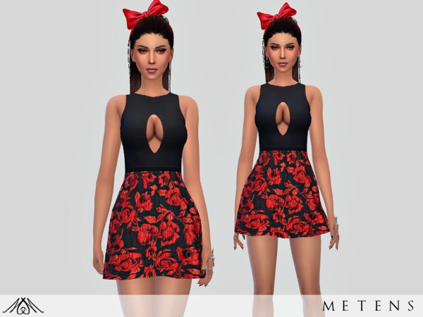 Sims 4 Amour Dress by Metens at TSR