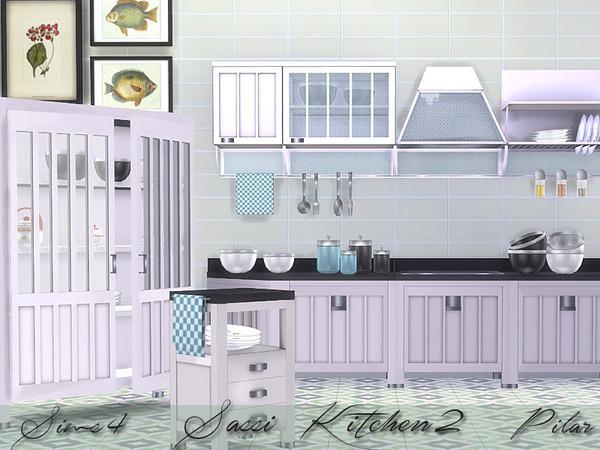 Sims 4 Sassi 2 kitchen by Pilar at TSR