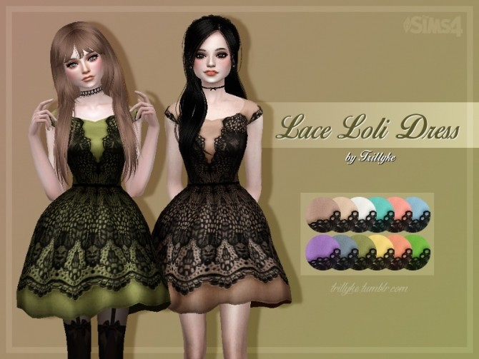 Lace Loli Dress at Trillyke image 2923 670x503 Sims 4 Updates