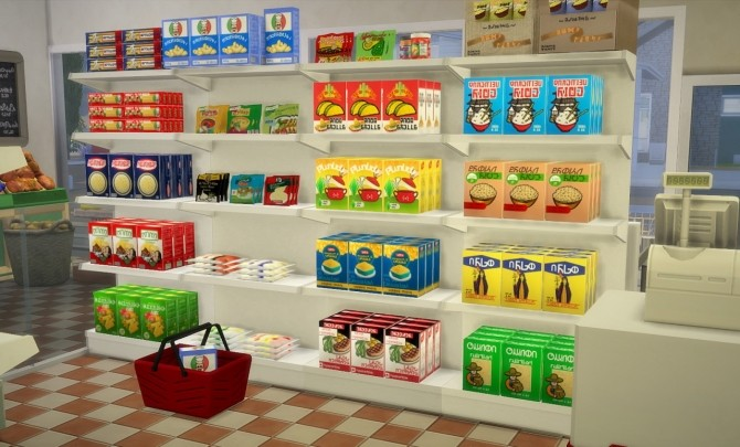 Sims 4 Food store pasta boxes recoulors at Budgie2budgie