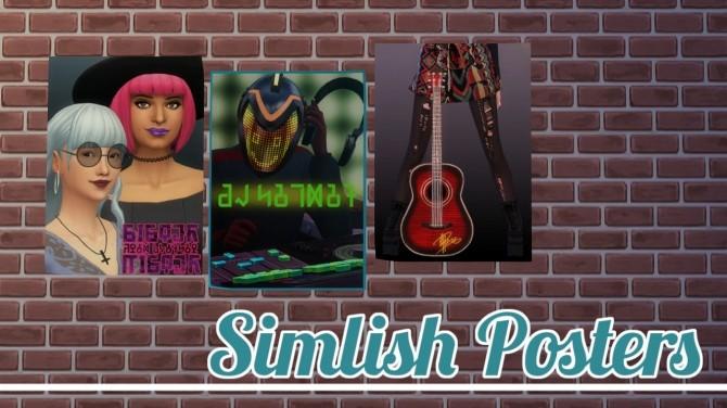 Sims 4 Simlish Posters at Jool's Simming