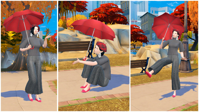 Poses And Umbrella At Rethdis Love 187 Sims 4 Updates