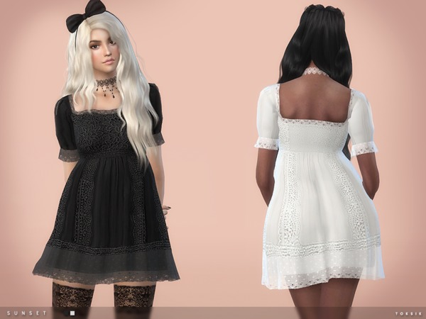 Sunset Dress by toksik at TSR image 3012 Sims 4 Updates