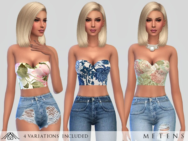 Sims 4 Charme Tops by Metens at TSR
