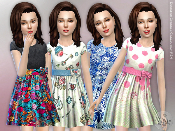 Sims 4 Designer Dresses Collection P24 by lillka at TSR
