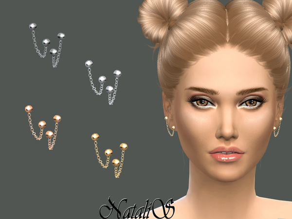 Hanging Chain Ear Cuff by NataliS at TSR image 3110 Sims 4 Updates