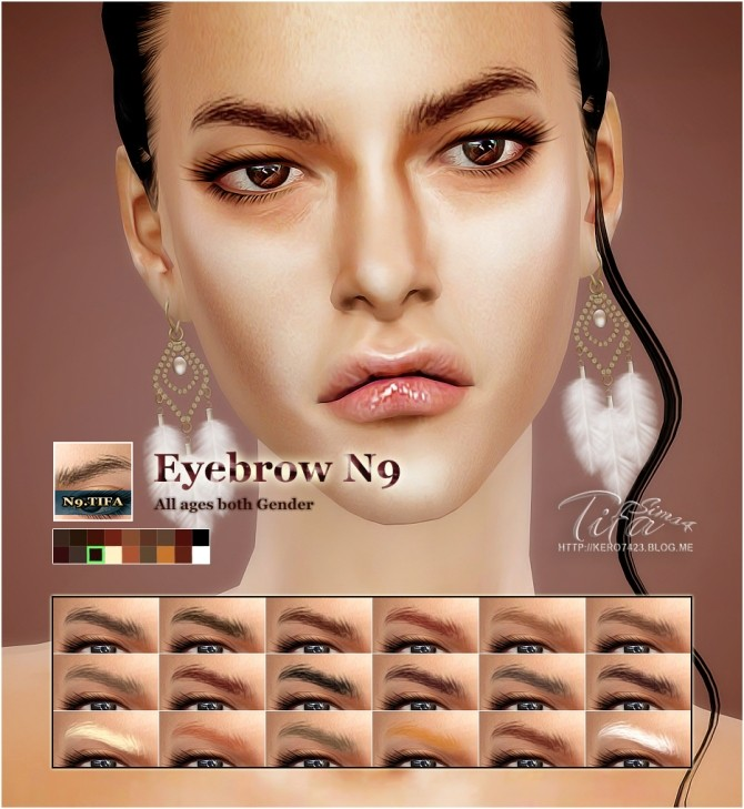 Sims 4 Eyebrows N9 MF at Tifa Sims