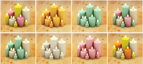 Sims 4 OM's Holiday candles recolored at Lina Cherie