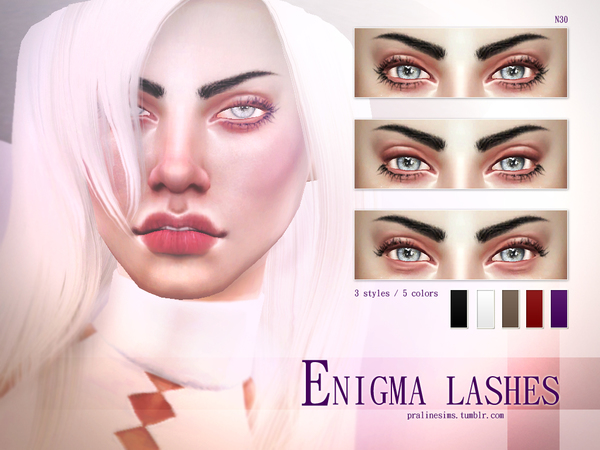 Sims 4 Enigma Lashes N30 by Pralinesims at TSR