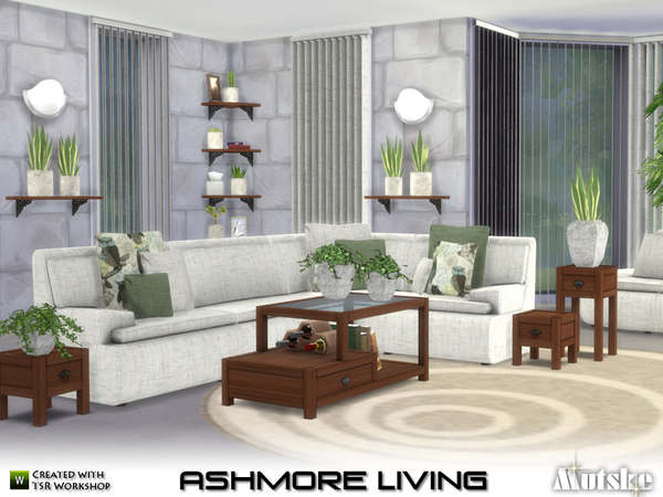 Sims 4 Ashmore Living by mutske at TSR