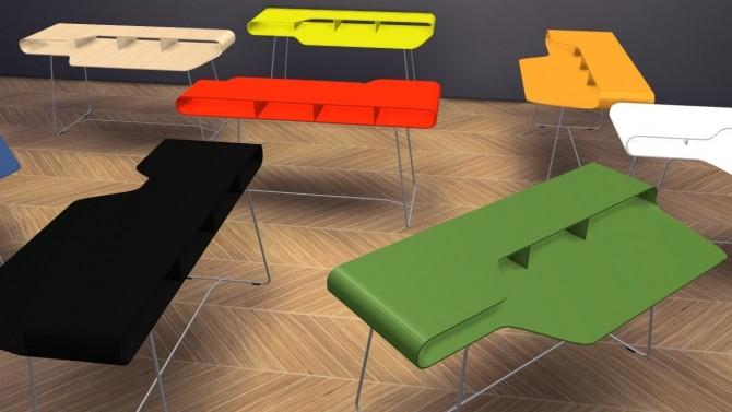 Sims 4 Loop Desk at Meinkatz Creations