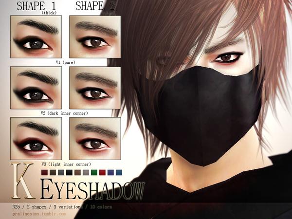 Sims 4 K Eyeshadow N25 by Pralinesims at TSR