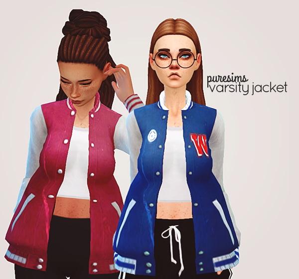 Acc varsity jacket at Puresims image 3311 Sims 4 Updates