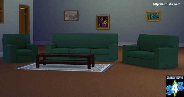 Sims 4 Manhattan Lounge Suite at Simista