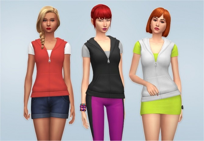 Sims 4 T Shirt with Vest at Veranka