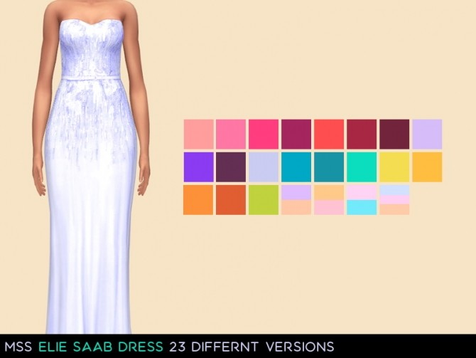 Sims 4 Grace Dress by midnightskysims at SimsWorkshop