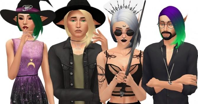 Nightcrawler Edge hair retexture at Amarathinee image 3442 670x353 Sims 4 Updates