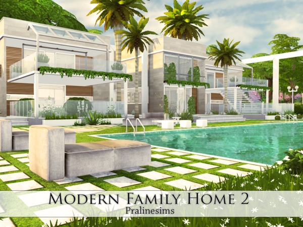 Modern Family Home 2 by Pralinesims at TSR image 35 Sims 4 Updates