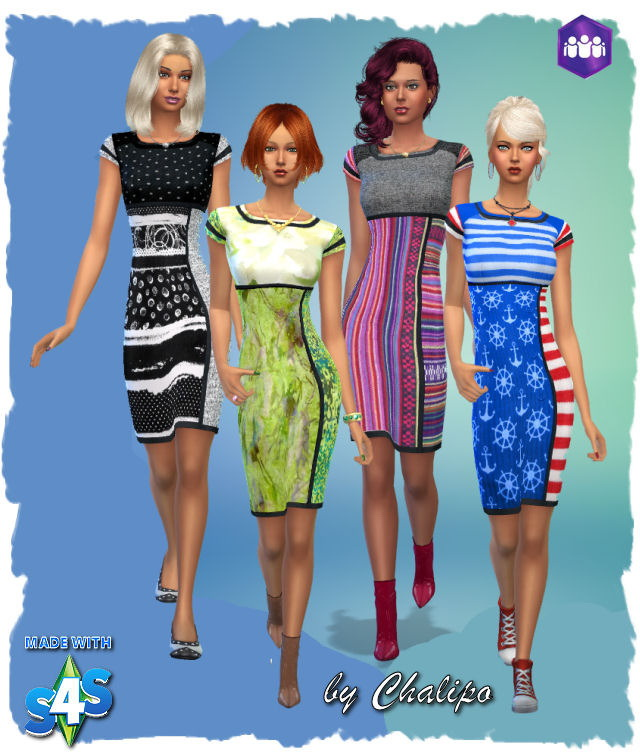 Colorful dresses by Chalipo at All 4 Sims image 351 Sims 4 Updates
