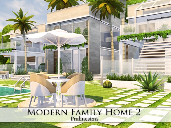 Modern Family Home 2 by Pralinesims at TSR image 36 Sims 4 Updates