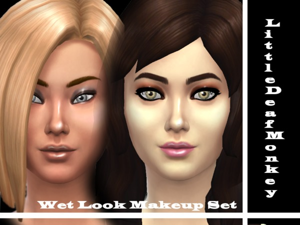 Wet Look Makeup Set by littledeafmonkey at TSR image 3615 Sims 4 Updates