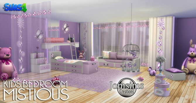 Mistious Kids Bedroom At Jomsims Creations 187 Sims 4 Updates