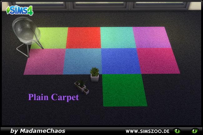 Sims 4 Plain Carpet by MadameChaos at Blacky's Sims Zoo