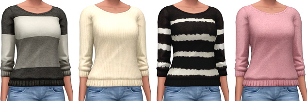 Sims 4 Loose Knit Sweaters at Marvin Sims
