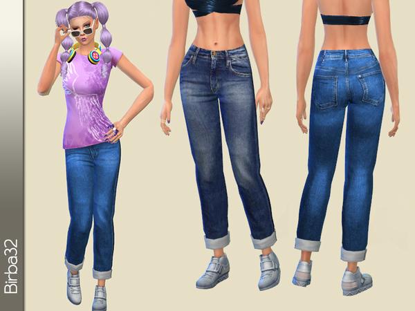 Sims 4 Boyfriend Jeans by Birba32 at TSR
