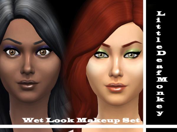 Wet Look Makeup Set by littledeafmonkey at TSR image 3715 Sims 4 Updates
