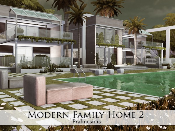 Modern Family Home 2 by Pralinesims at TSR image 38 Sims 4 Updates