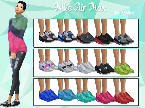Air Max sneakers by LollaLeeloo at TSR u00bb Sims 4 Updates