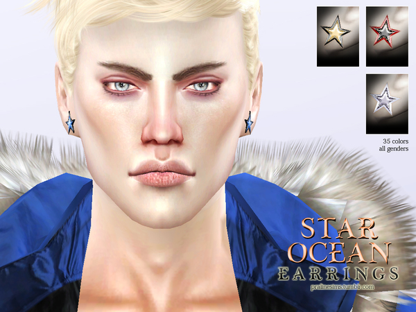 Sims 4 Star Ocean Earrings by Pralinesims at TSR