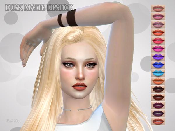 Sims 4 Dusk Matte Lipstick by hutzu at TSR