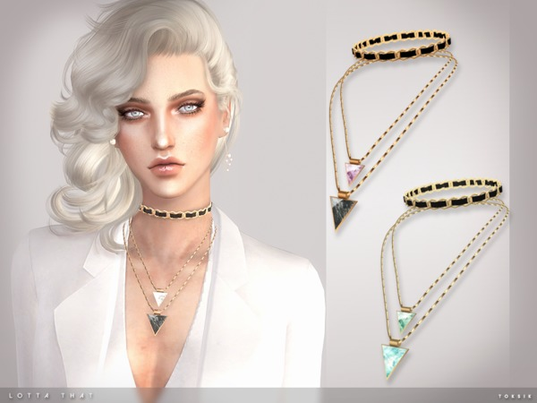 Lotta That Necklace By Toksik At Tsr 187 Sims 4 Updates