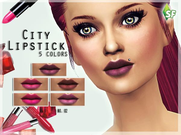 Sims 4 City Lipstick by SimFabulous at TSR