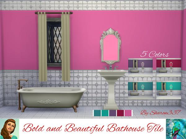 Sims 4 Bold and Beautiful walls and floors by sharon337 at TSR