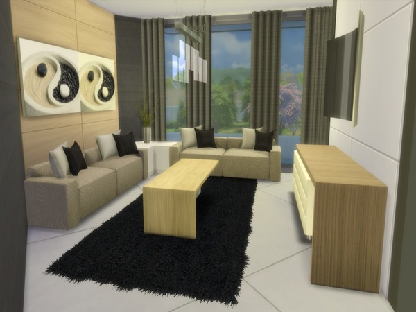 Sims 4 Modern Vitaly house by Suzz86 at TSR