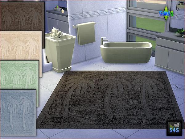 Sims 4 2 sets of bath rugs in 4 colors by Mabra at Arte Della Vita