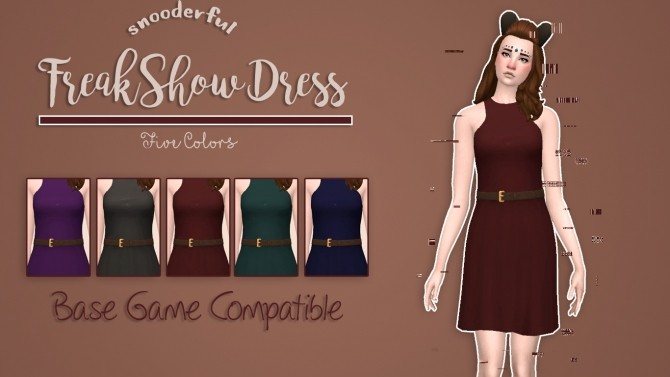 Sims 4 Freakshow Dress by Snooders at SimsWorkshop