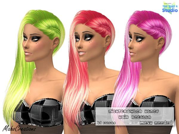 Sims 4 Nightcrawler Honey Hair Recolor by MahoCreations at TSR